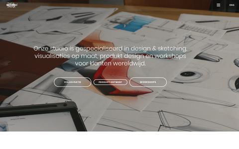 Screenshot of Home Page sketching.nl - dutch design sketching : design visualisaties, product ontwerp, cursus, tutorials, presentatie en boeken - leren schetsen industrieel product ontwerp - captured Nov. 4, 2018