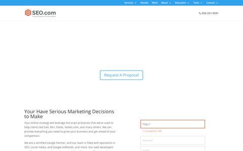 Screenshot of Home Page seo.com - SEO Company - Search Engine Optimization Firm - SEO Agency | SEO.com - captured July 13, 2018