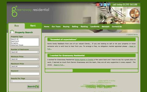 Screenshot of Support Page greenawayresidential.com - | - captured Oct. 3, 2014
