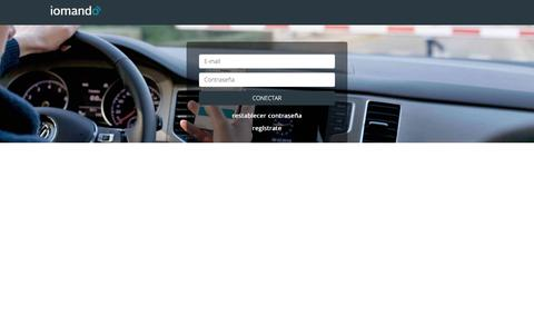 Screenshot of Login Page iomando.com - iomando - Abre puertas con tu movil · conectar - captured Oct. 2, 2017