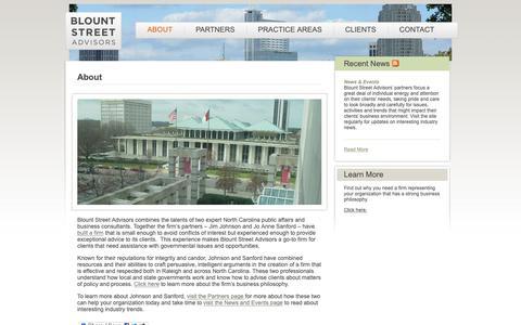 Screenshot of About Page blountstreet.com - About – Blount Street Advisors - captured Nov. 13, 2018
