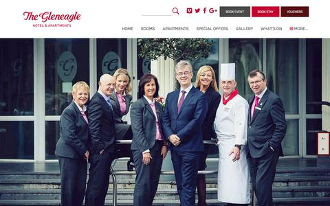 Screenshot of Signup Page gleneaglehotel.com - Newsletter Signup for Special Offers & Discounts | The Gleneagle Hotel & Apartments Killarney - captured July 19, 2018