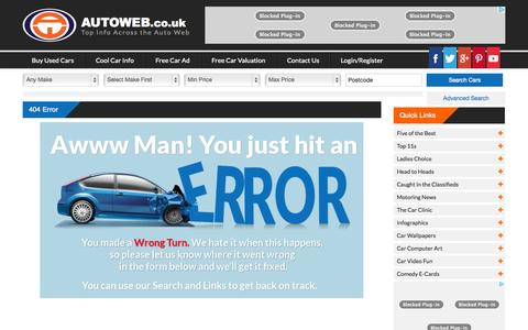 Screenshot of Terms Page autoweb.co.uk captured Nov. 6, 2014
