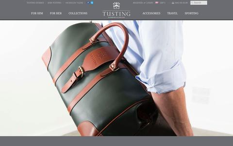 Screenshot of Home Page tusting.co.uk - TUSTING | Luxury Leather Briefcases Luggage & Handbags - captured Nov. 18, 2015