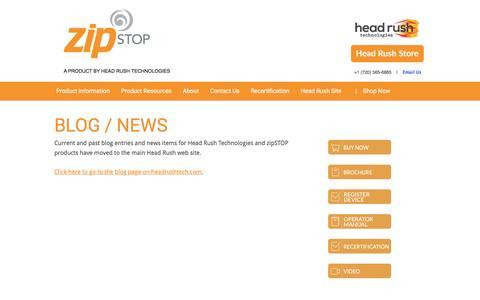 Screenshot of Press Page thezipshop.com - Blog / News - captured Dec. 3, 2016
