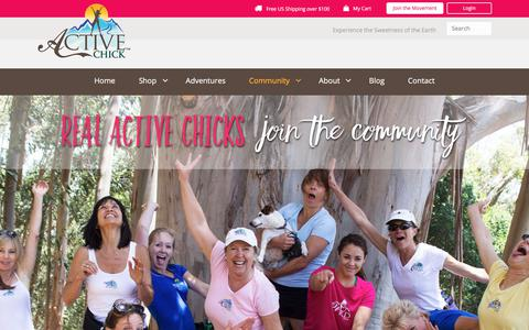Screenshot of Signup Page activechick.com - Community - Active Chick - captured July 28, 2018