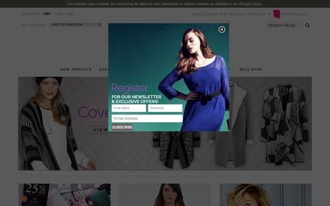Screenshot of Home Page beigeplus.com - Designer Plus Size Clothing | Beige Plus | London UK - captured Oct. 1, 2015