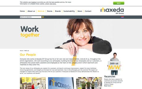Screenshot of Jobs Page maxedadiygroup.com - Work at - Maxeda DIY Group - captured March 13, 2018