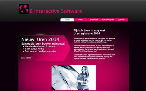Screenshot of Home Page binteractive.nl - B Interactive Software voor Urenregistratie en tijdschrijven - captured Oct. 1, 2014
