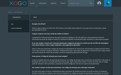 Screenshot of FAQ Page xogo.com.br - XOGO - Gaming Network - captured Dec. 19, 2016