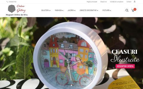 Screenshot of Home Page online-gallery.ro - Online Gallery - galerie online de artă și handmade - captured Sept. 20, 2018