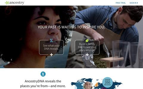 Screenshot of Home Page ancestry.com - Ancestry® | Genealogy, Family Trees & Family History Records - captured May 20, 2018