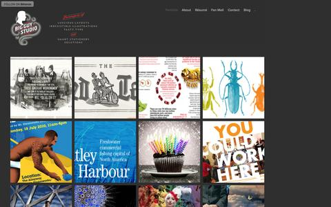 Screenshot of Home Page bigguystudio.ca - Gil Martinez at Big Guy Studio — Graphic Design - captured Sept. 30, 2014