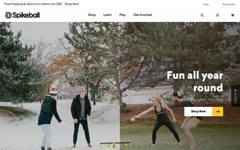 Screenshot of Home Page spikeball.com - Spikeball® Inc   Official Spikeball Store - captured Nov. 21, 2018