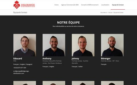 Screenshot of Contact Page delgrange-distribution.com - Delgrange Distribution |   Équipe & Contact - captured Jan. 7, 2016