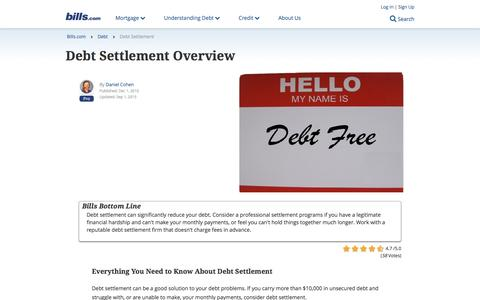 Debt Settlement | READ THESE FACTS