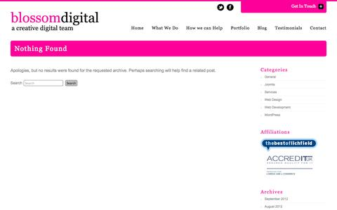 Screenshot of Services Page blossomdigital.co.uk - Services Archives | Blossom DigitalBlossom Digital - captured Oct. 5, 2014