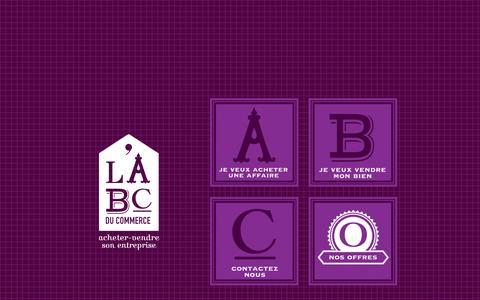 Screenshot of Home Page abcducommerce.com - Commerces à vendre - ABC du Commerce - Conseils et Transactions en Fonds de Commerce et Entreprises - captured Sept. 12, 2015