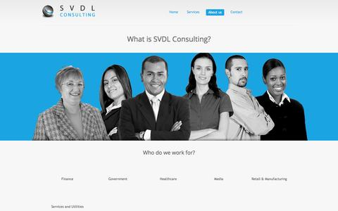 Screenshot of About Page svdl.eu - SVDL Consulting BVBA - captured Oct. 3, 2014
