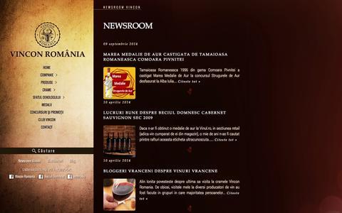 Screenshot of Press Page vincon.ro - Vincon Romania — Newsroom Vincon - captured Oct. 9, 2014