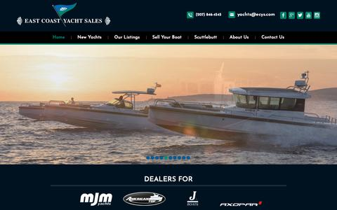 Screenshot of Home Page ecys.com - East Coast Yacht Sales | New and Pre Owned Yachts for Sale - captured Dec. 13, 2018