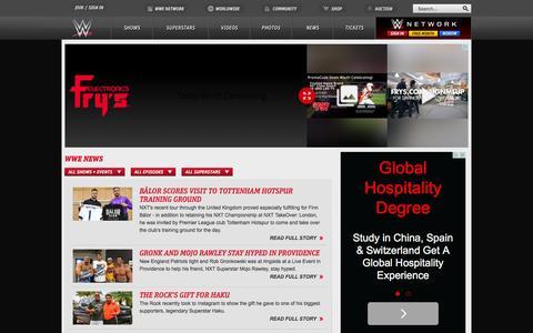 Screenshot of Press Page wwe.com - WWE News, Wrestling News and Wrestling Rumors | WWE.com - captured Dec. 31, 2015
