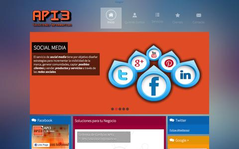 Screenshot of Home Page api3.com.ar - Inicio - API3 Soluciones Informáticas - captured Feb. 5, 2016
