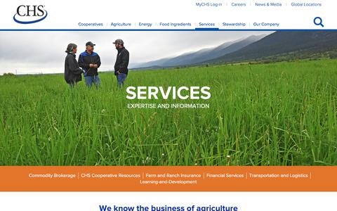Screenshot of Services Page chsinc.com - Services - captured July 23, 2019