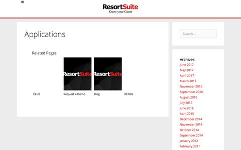 Applications | ResortSuite