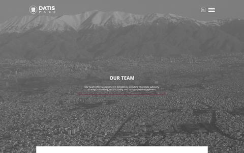 Screenshot of Team Page datispars.com - Our team : Datis Pars - captured Nov. 23, 2016