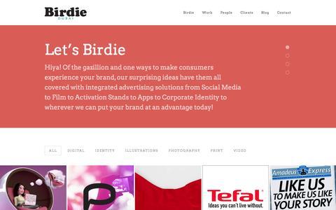 Screenshot of Home Page birdieuae.com - Birdie Communications   Advertising Agency - captured Oct. 5, 2014