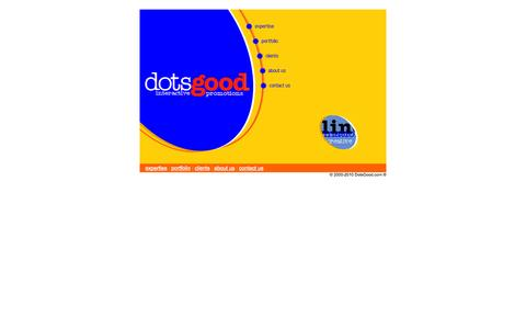 Screenshot of Home Page dotsgood.com - dotsgood.com - interactive online offline promotions - captured Oct. 5, 2014