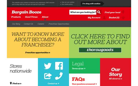 Screenshot of About Page bargainbooze.co.uk - About Us - captured Jan. 20, 2016