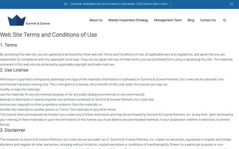 Screenshot of Privacy Page summitandcrowne.com - Privacy Policy - Summit & Crowne - captured Oct. 18, 2018