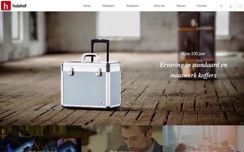 Screenshot of Home Page hulshofcases.nl - Hulshof business cases - koffers voor de zakelijke markt - captured Sept. 17, 2015