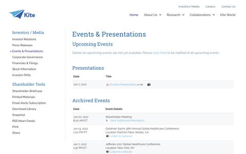 Kite Pharma | Events & Presentations