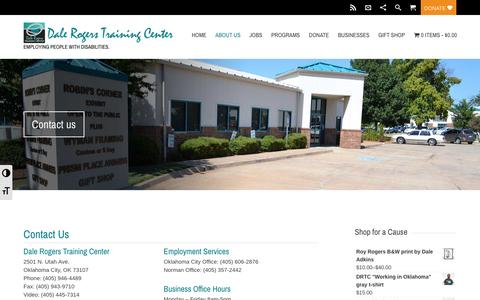 Screenshot of Contact Page drtc.org - Contact us   Dale Rogers Training Center - captured Nov. 23, 2016