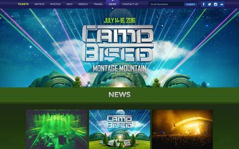 Screenshot of Press Page campbisco.com - News   Camp Bisco - captured March 4, 2016