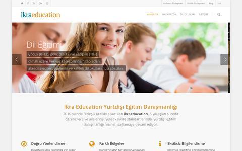 Screenshot of Home Page ikraeducation.com - Ikra Education – Yurtdışı Eğitim Danışmanlığı - captured Sept. 12, 2018