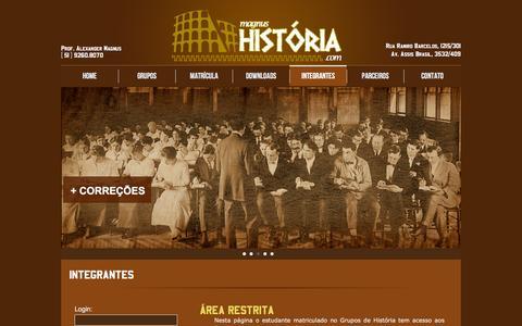 Screenshot of Login Page magnushistoria.com - Magnus História | Login - captured April 11, 2016