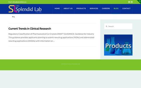 Screenshot of Blog splendidlab.com - Blog - Splendid Lab - captured May 9, 2017