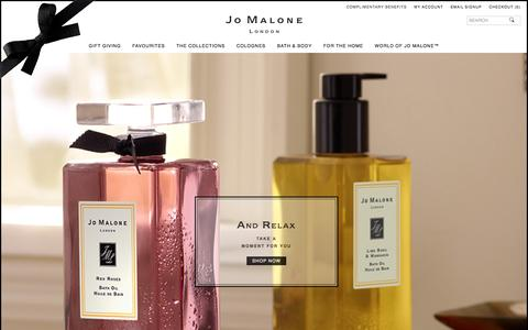 Screenshot of Home Page jomalone.co.uk - Home | Jo Malone London - captured Jan. 17, 2016