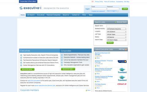 Screenshot of Home Page executive-i.com - Executive - I Executive Jobs - captured Oct. 3, 2014