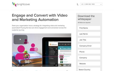 Screenshot of Landing Page brightcove.com - Brightcove |  Engage and Convert with Video and Marketing Automation - captured July 15, 2016