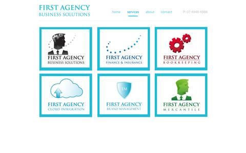 Screenshot of Services Page firstagency.com.au - services - First Agency Business Solutions - captured Oct. 6, 2014