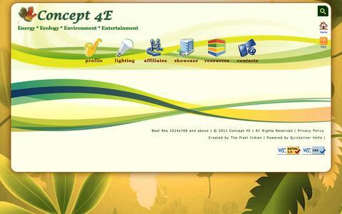 Screenshot of Privacy Page concept4e.com - Concept 4E - Energy * Ecology * Environment * Entertainment - captured Dec. 10, 2015