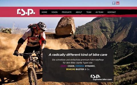 Screenshot of About Page rsp.at - r.s.p. | A radically different kind of bike care - captured Oct. 27, 2014