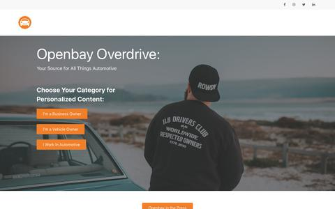 Screenshot of Blog openbay.com - Openbay Overdrive | Openbay Overdrive - captured June 28, 2019