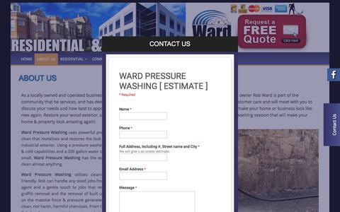 Screenshot of About Page wardpressurewashing.com - About Us - Niagara Pressure Washing / Power Washing - captured Dec. 12, 2016