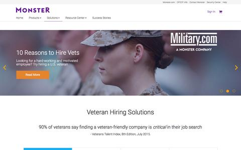 Hire Veterans: Military Recruiting for Employers | Monster.com